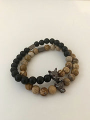 WOLF Men's Bracelet Set (wood exclusive) - Wolf Clothing Brand
