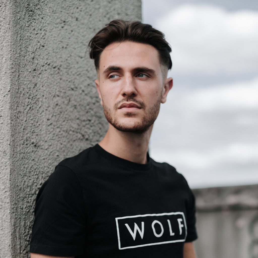 WOLF T-shirt 3D Logo (black) - Wolf Clothing Brand