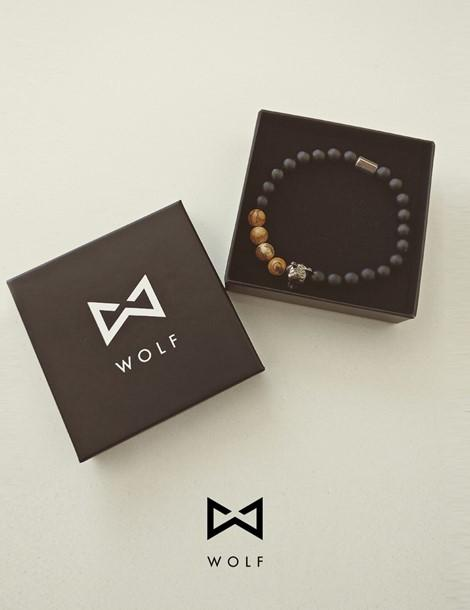 WOLF Men's Bracelet (wood)-Wolf Clothing Brand