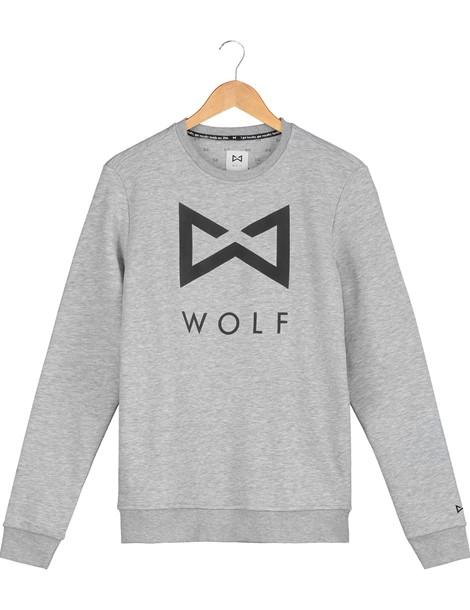 WOLF Logo Sweater (grey) - Wolf Clothing Brand