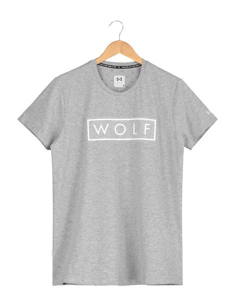 WOLF T-shirt 3D Logo (grey) - Wolf Clothing Brand