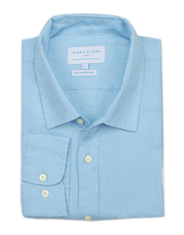 Samarkand Blue Hemp Shirt by Babble & Hemp