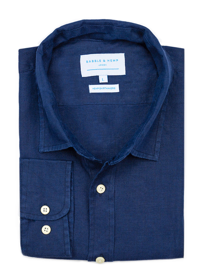 Midnight Blue Hemp Shirt by Babble & Hemp
