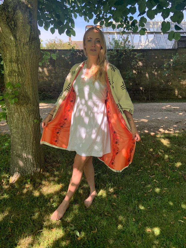 Summer's Blood Orange lined coat