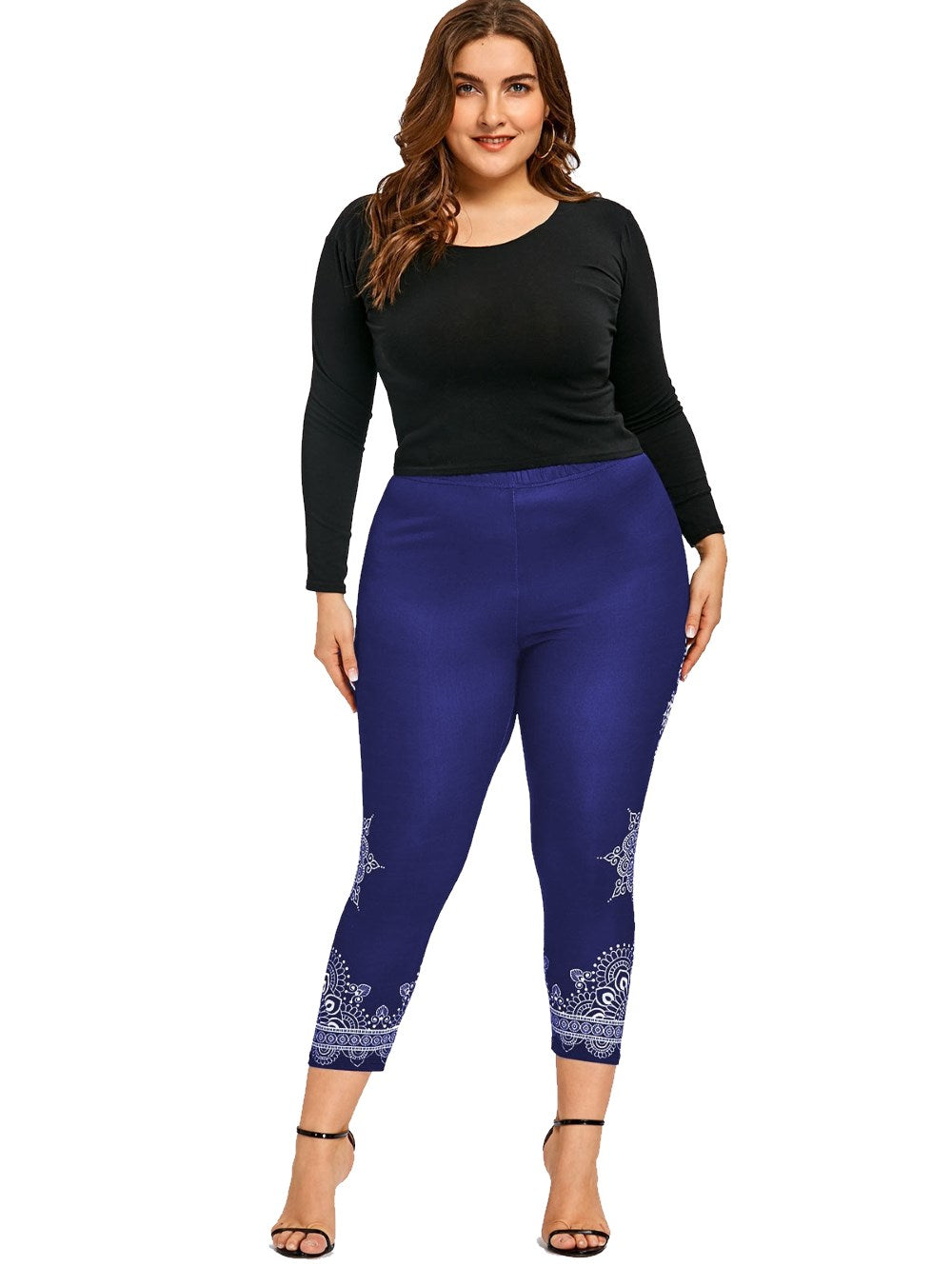 GAMISS Plus Size Fitness Leggins deep blue