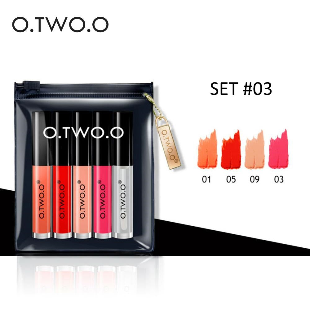 O.TWO.O® 5 PCS Liquid Lipstick Set 3