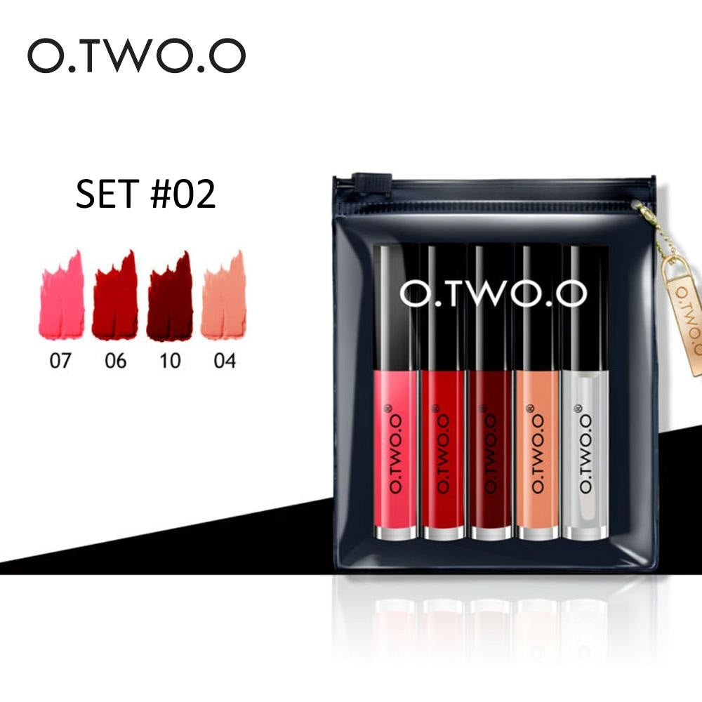 O.TWO.O® 5 PCS Liquid Lipstick Set 2