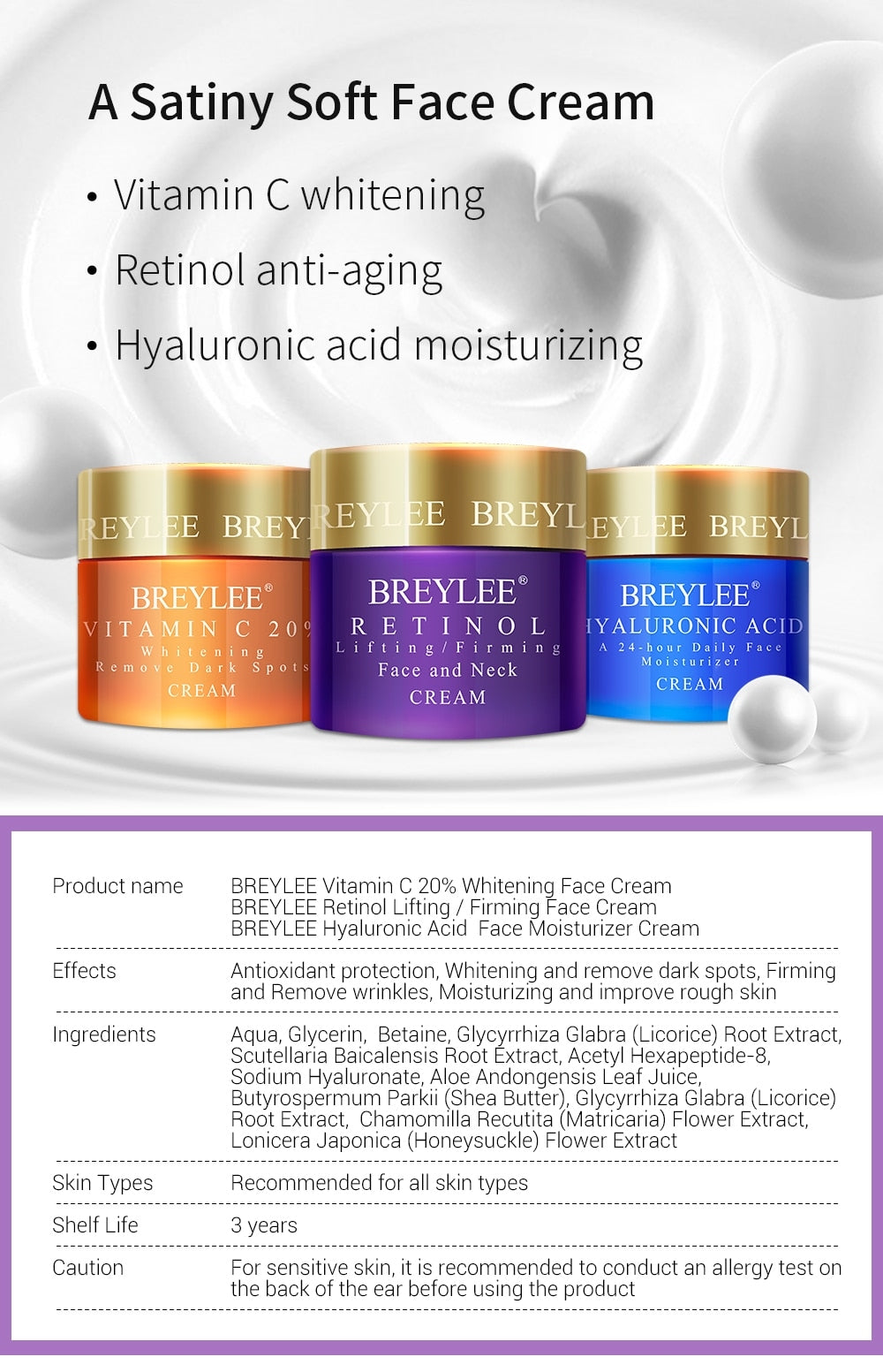 BREYLEE rejuvenating face cream