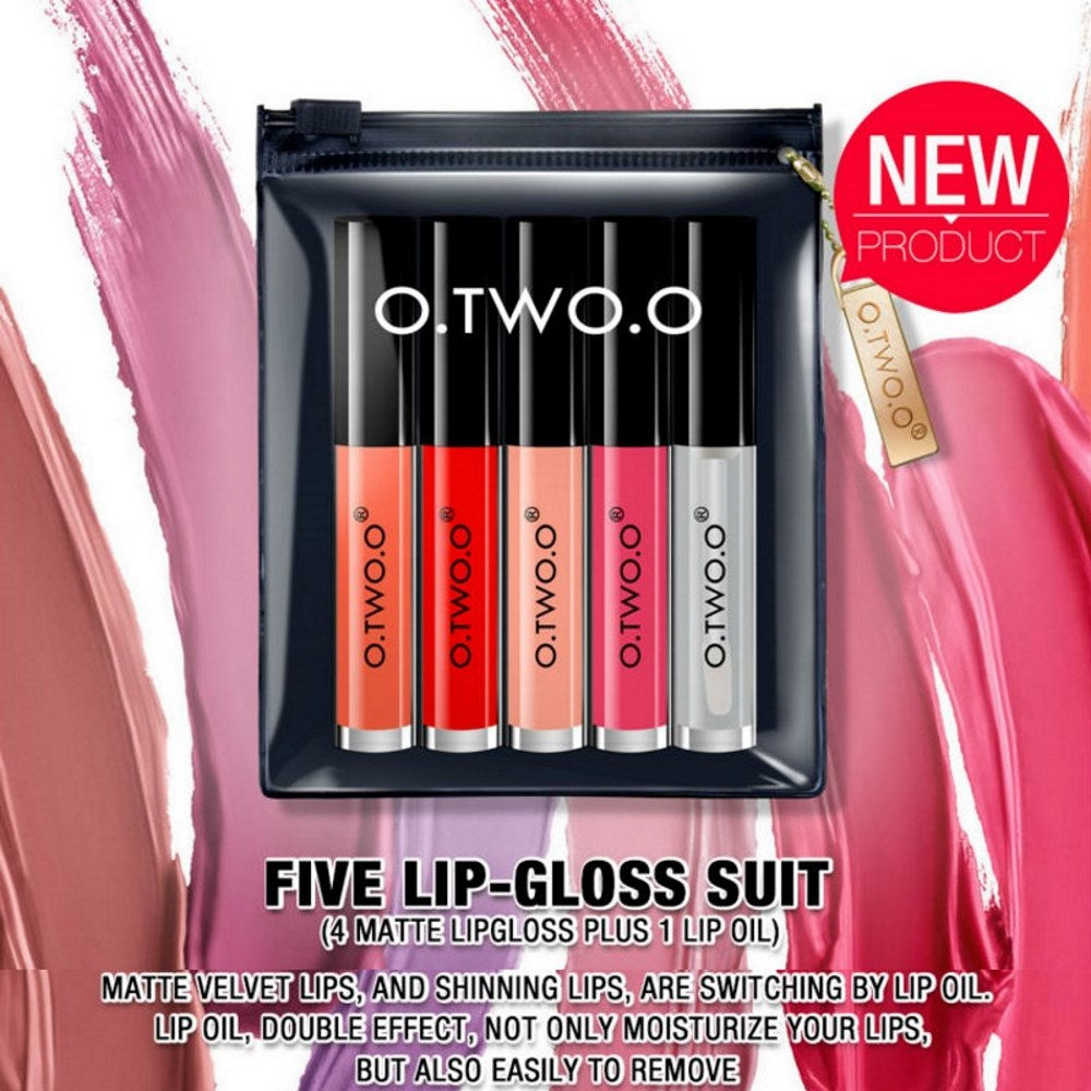 O.TWO.O® 5 PCS Liquid Lipstick Set