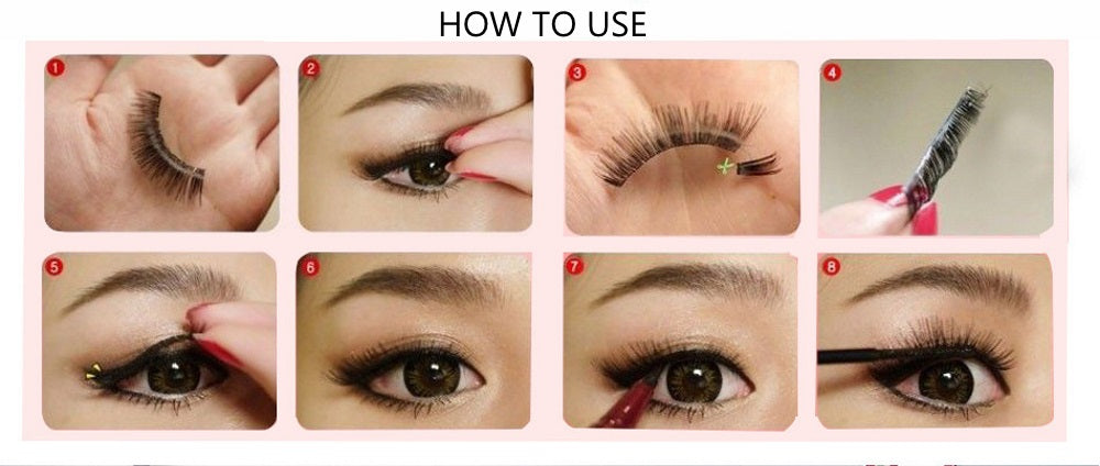 How to use false eyelashes