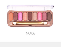 O.TWO.O® 9 Colors Eye-shadow Palette With Brush 6