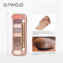 O.TWO.O® 9 Colors Eye-shadow Palette With Brush