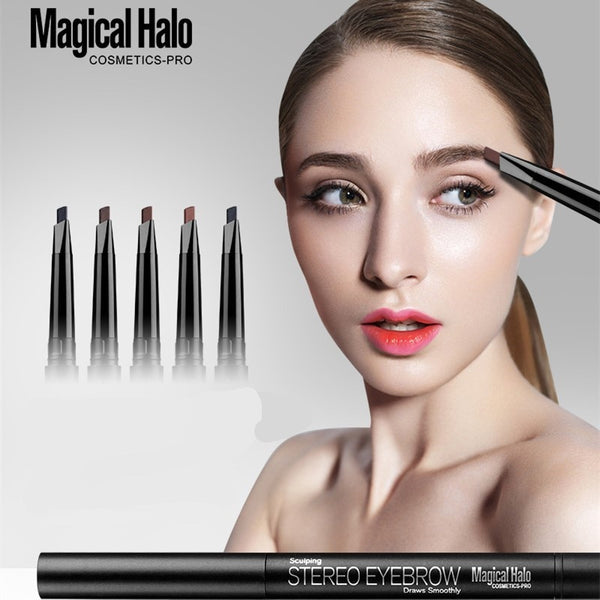MAGICAL HALO 5 Colors Stereo Eyebrow Pencil With Brush