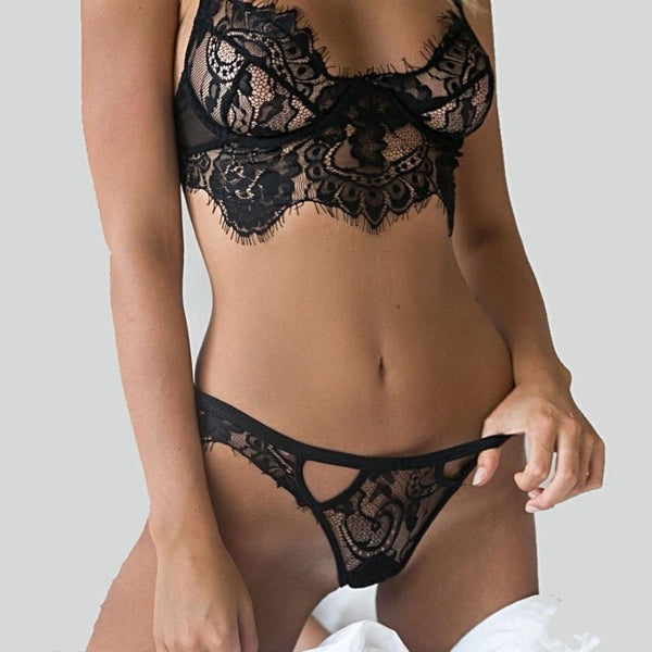 RoyalChoice Lace Set Sheer Bralette and G-string - royalchoice-lashes.myshopify.com