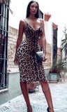 Wild Thoughts Cheetah Midi dress