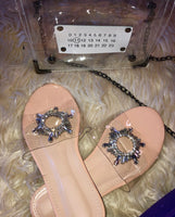 Crystal Clear Slide Sandals