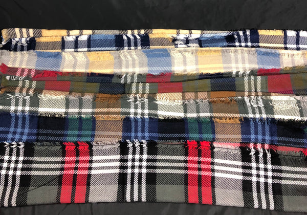 Wrapped - plaid neck scarf