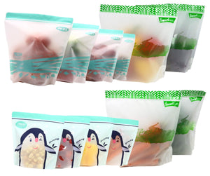 12-pcs (S, L, XL) set of ZipFresh Reusable Ziplock Food Saver Storage - ACHub
