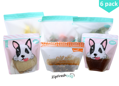 6pcs-set ZipFresh Reusable Ziplock Food Saver Storage - ACHub