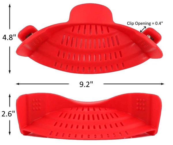 Universal Silicone Clip-On Pot Colander Dimension- altCookingHub