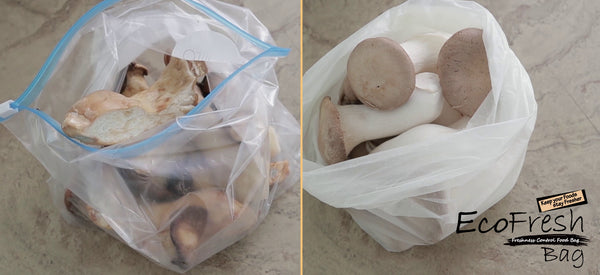 EcoFresh Produce Saver Bag Mushroom Comparison - ACHub