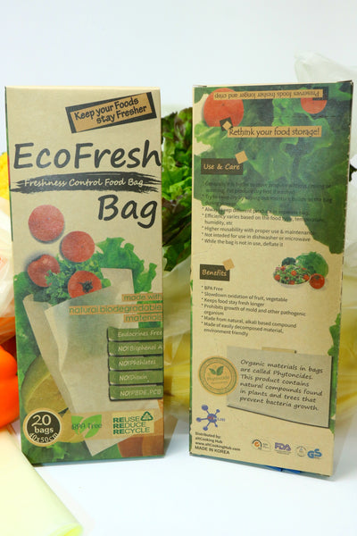 EcoFresh Reusable Green Power Produce Saver Bag (Extra-Large)