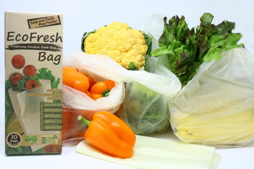 20 Pcs Green Fresh Food Vegetable Storage Bags Green Kitchen Device Produce C52A