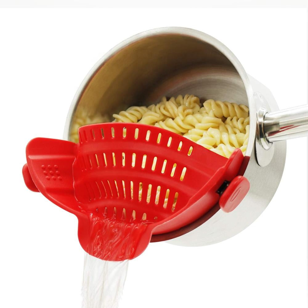 Silicone Clip-On Pot Strainer - altCookingHub
