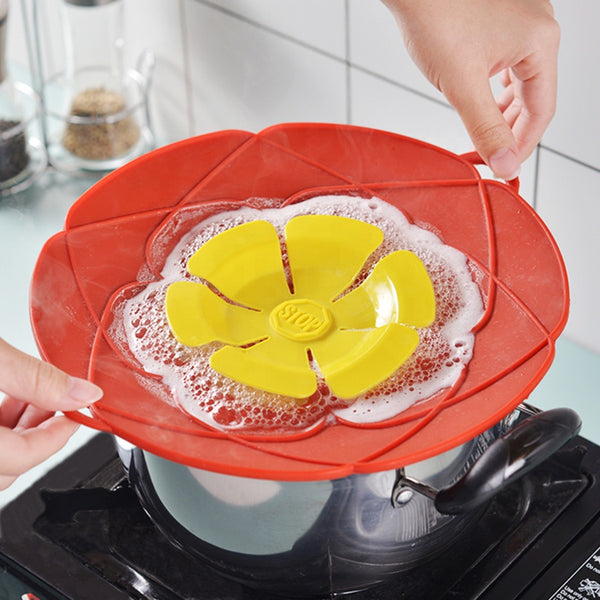 Silicone Spill Stopper Pot Lid - altCookingHub