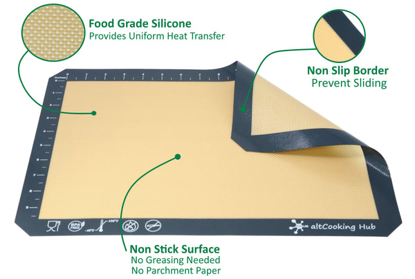 Properties of Nonstick Silicone Mat - altCookingHub