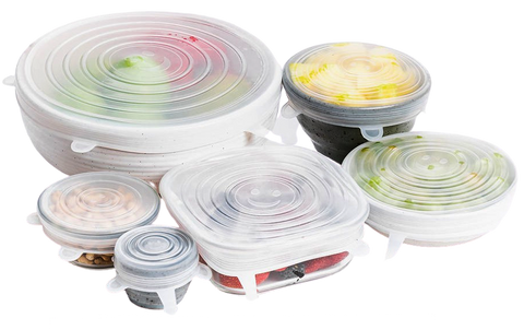 6 piece set BPA Free, Reusable Silicone Stretch Lids - ACHub