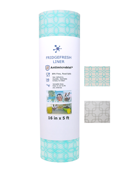 FridgeFresh Liner - Antimicrobial, BPA Free Refrigerator Mat, 5ft-Aqua - ACHub