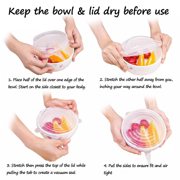 BPA Free, Reusable Silicone Stretch Lids How-to - ACHub