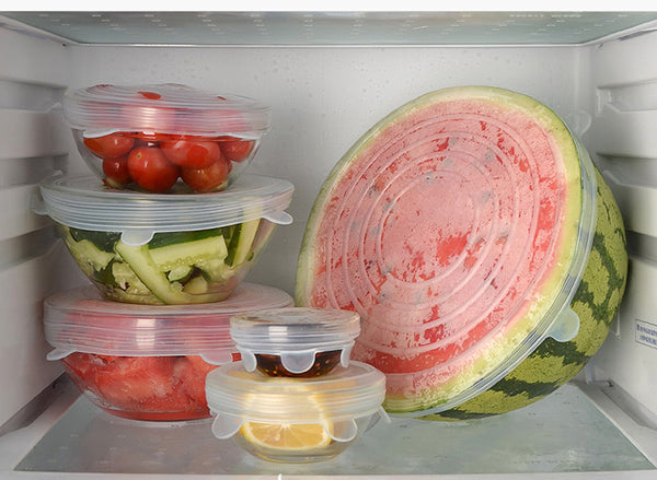 BPA Free, Reusable Silicone Stretch Lids in Fridge - ACHub