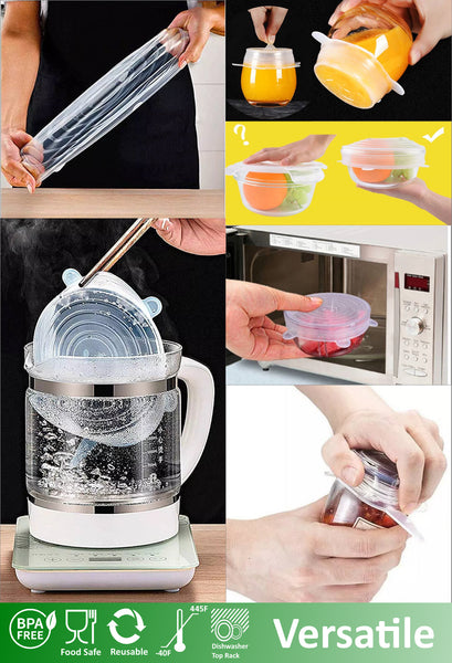 altCookingHub Silicone Stretch Lids & Food Cover Multifunction