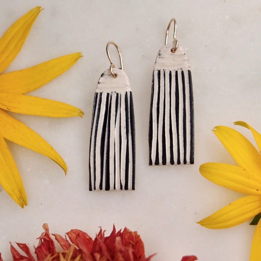 Ceramic Tassel Earring - large