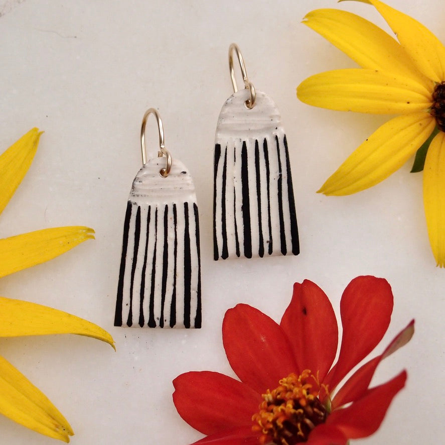 Ceramic Tassel Earring - small
