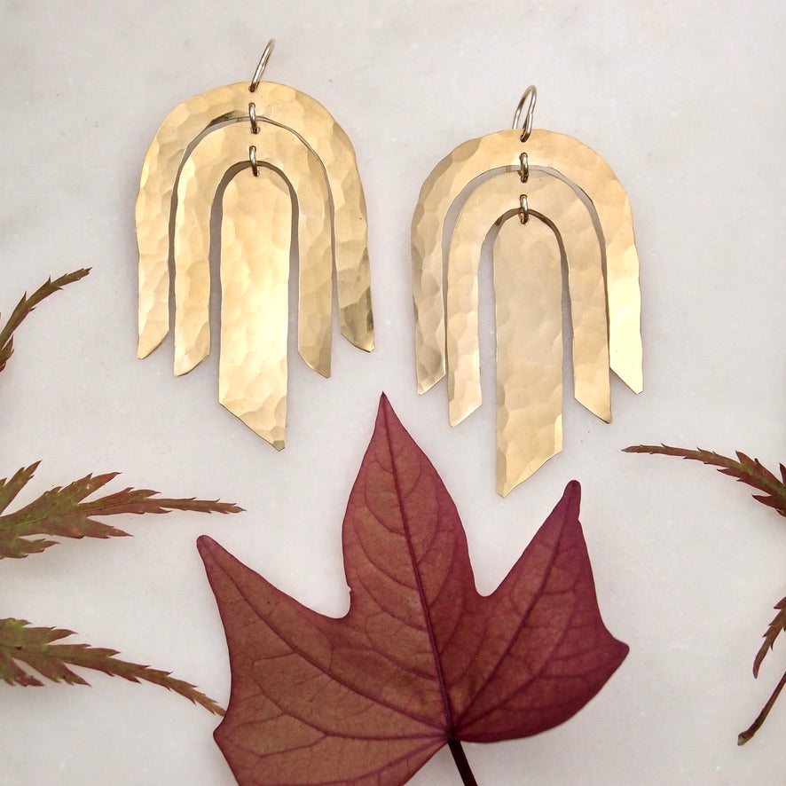 Feather Drop Earrings