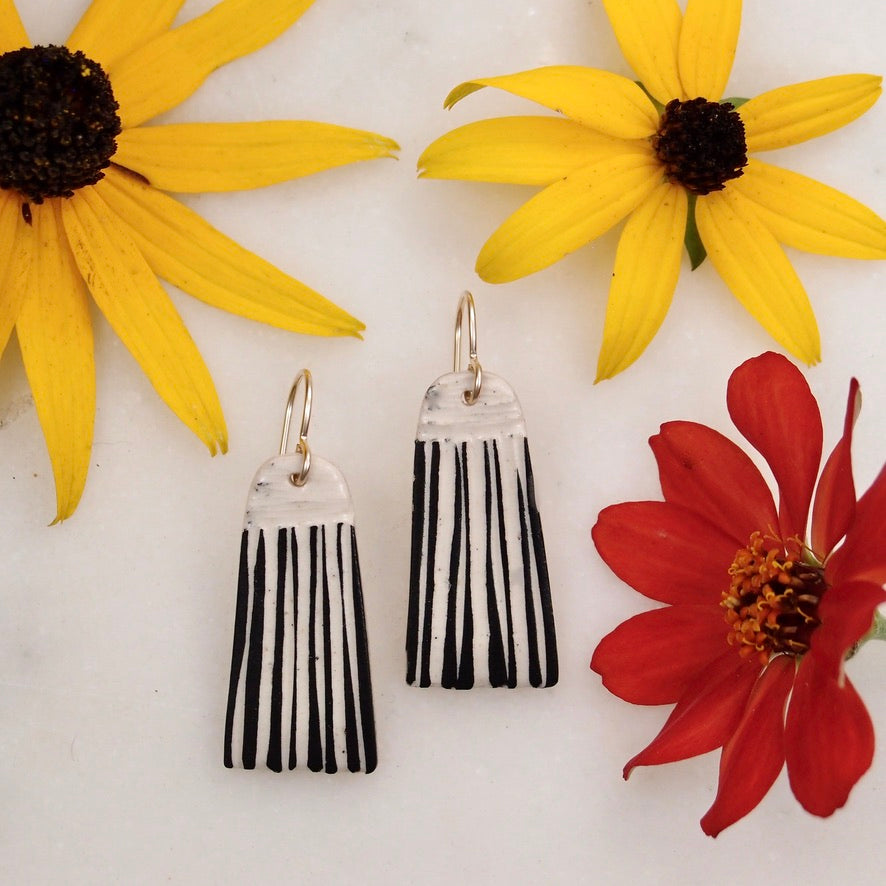 Ceramic Tassel Earring - medium