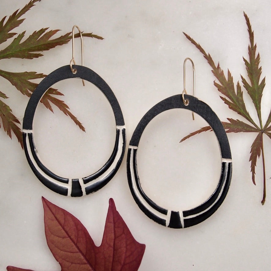 Ceramic Hoop Earrings - Keystone