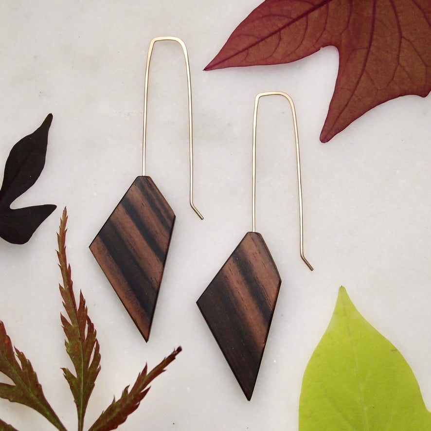 Wood Geo Earrings