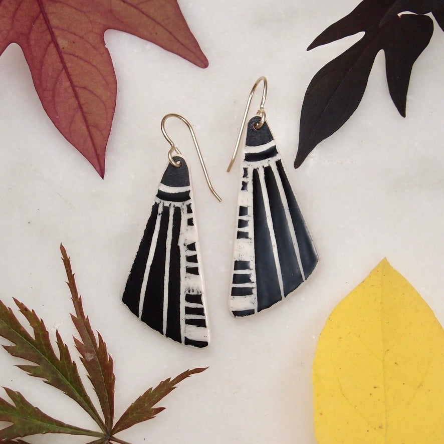 Ceramic Wing Earrings