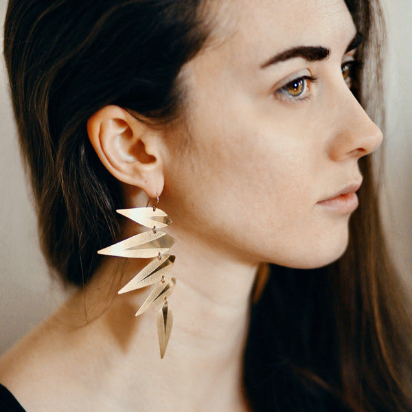 Maxima Leaf Punk Earrings