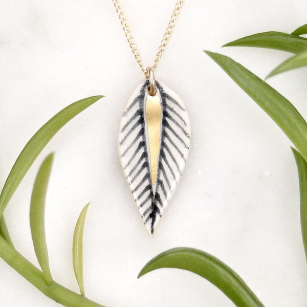 Blaze Leaf Necklace