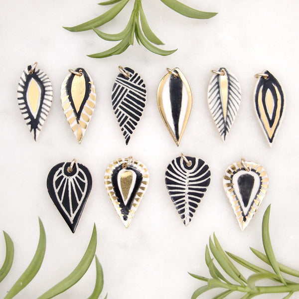 Grid Leaf Necklace