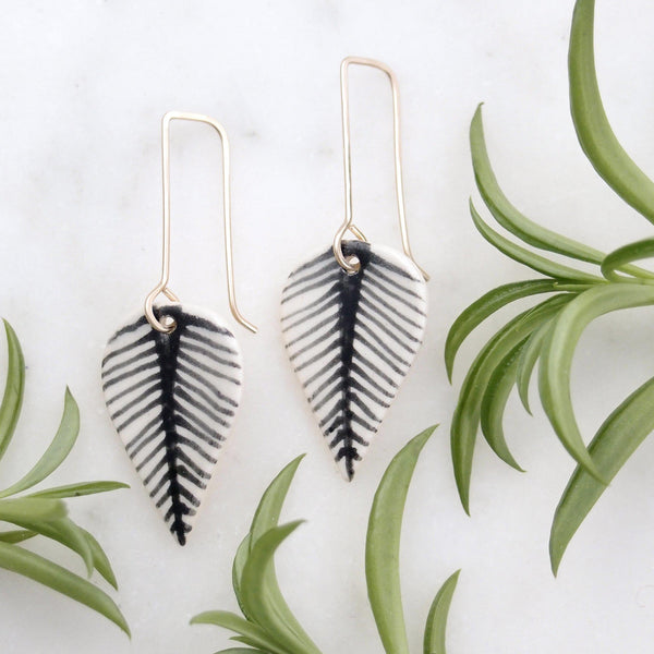 Fan Leaf Earrings
