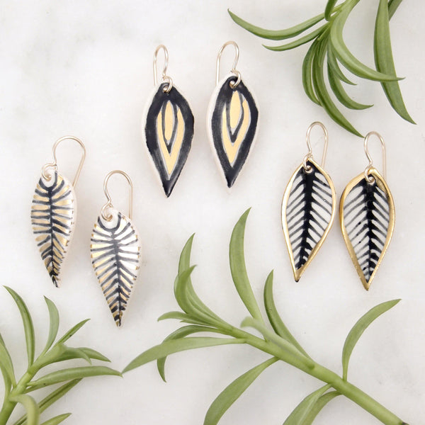 Flame Leaf Earrings