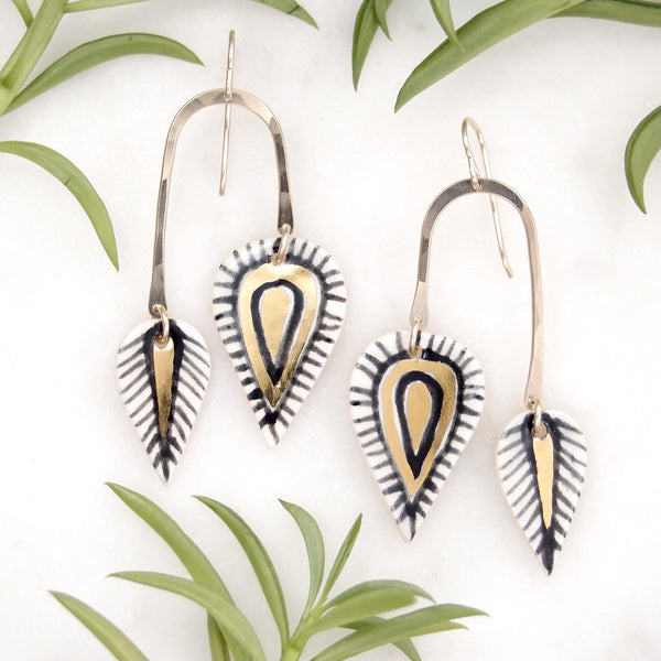 Maya Leaf Drop Earrings