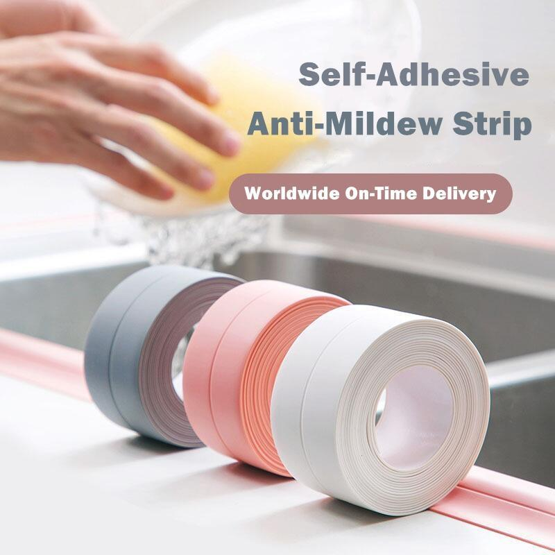 [Worldwide On-Time Delivery] Self-Adhesive Anti-Mildew Strip (10.5ft)