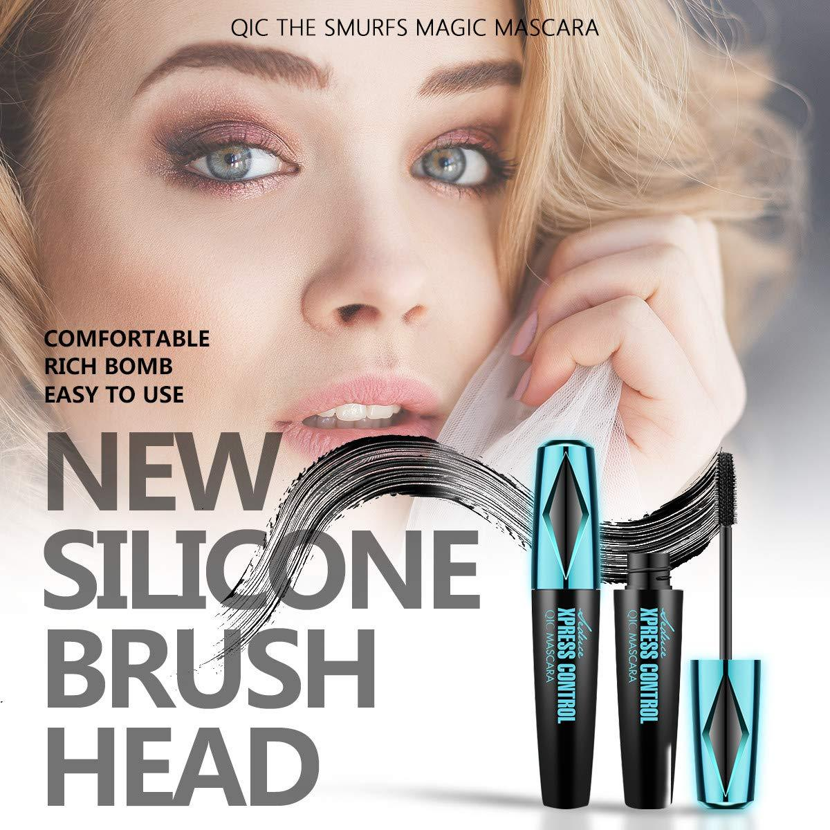 Eyes 4D Silk Fiber Lash Mascara Fiber Waterproof Natural Volume Thick Thickening Lengthening Eyelashes Mascara Lasting All Day